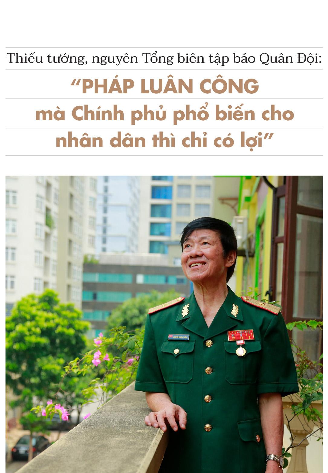 Thiếu Tướng Nguyen Tbt Bao Quan đội Phap Luan Cong Ma Chinh Phủ Phổ Biến Cho Nhan Dan Thi Chỉ Co Lợi Dkn News